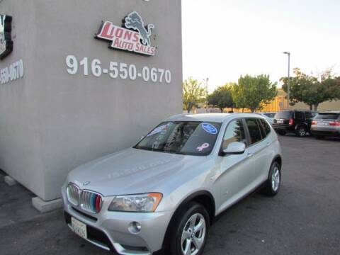2012 BMW X3 for sale at LIONS AUTO SALES in Sacramento CA