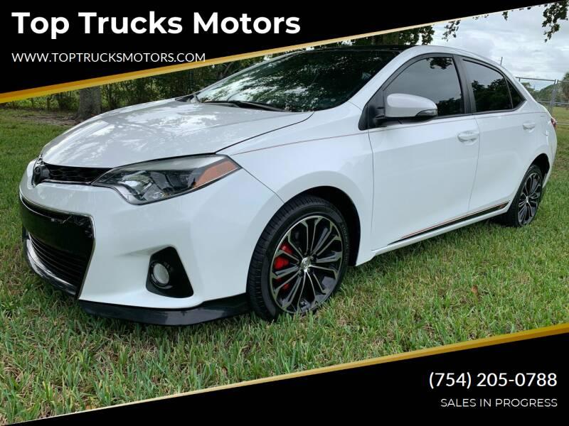 2016 Toyota Corolla for sale at Top Trucks Motors in Pompano Beach FL