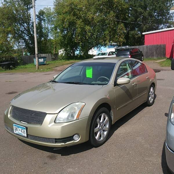 2004 Nissan Maxima for sale at WB Auto Sales LLC in Barnum MN