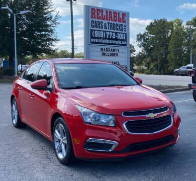 2015 Chevrolet Cruze for sale at Reliable Cars & Trucks LLC in Raleigh NC