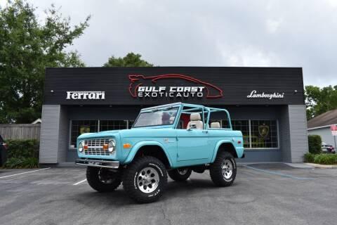 1975 Ford Bronco for sale at Gulf Coast Exotic Auto in Biloxi MS