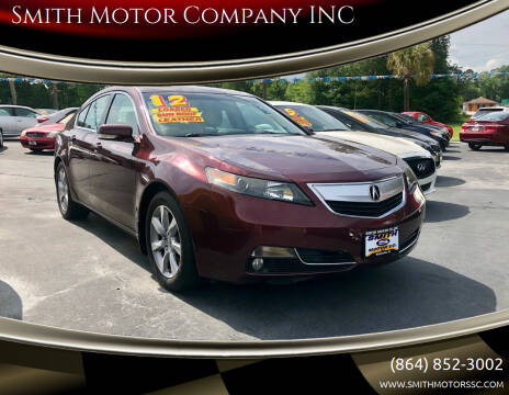 2012 Acura TL for sale at Smith Motor Company INC in Mc Cormick SC