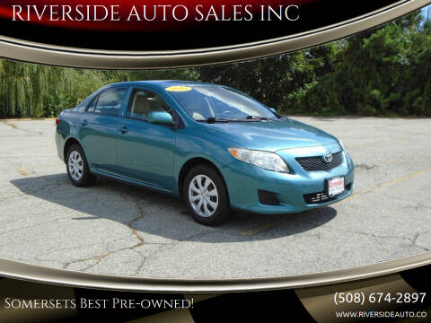 2010 Toyota Corolla for sale at RIVERSIDE AUTO SALES INC in Somerset MA