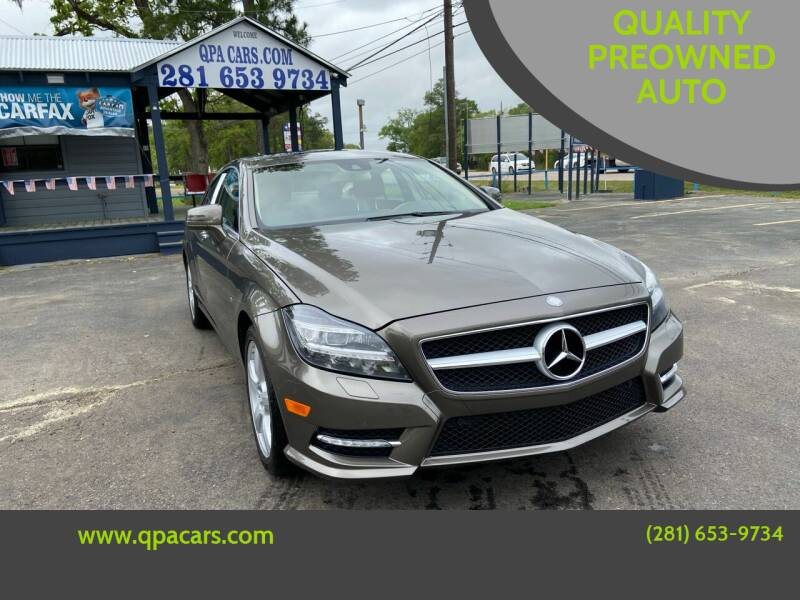 2012 Mercedes-Benz CLS for sale at QUALITY PREOWNED AUTO in Houston TX