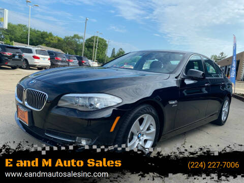 2012 BMW 5 Series for sale at E and M Auto Sales in Elgin IL