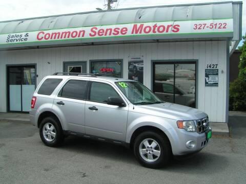 2012 Ford Escape for sale at Common Sense Motors in Spokane WA