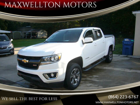 2018 Chevrolet Colorado for sale at MAXWELLTON MOTORS in Greenwood SC