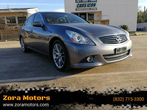 2011 Infiniti G37 Sedan for sale at Zora Motors in Houston TX