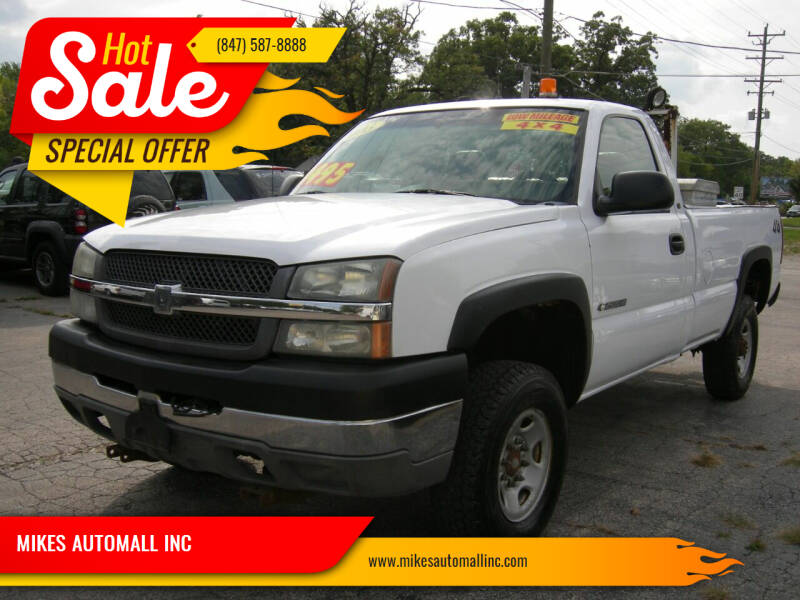 2003 Chevrolet Silverado 2500HD for sale at MIKES AUTOMALL INC in Ingleside IL