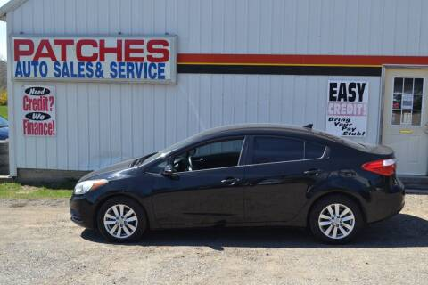 2014 Kia Forte for sale at Patches Enterprises, Ltd. in Reed City MI