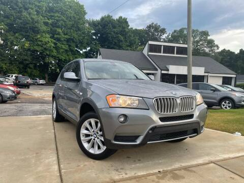 2013 BMW X3 for sale at Alpha Car Land LLC in Snellville GA