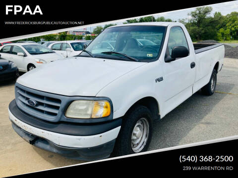2000 Ford F-150 for sale at FPAA in Fredericksburg VA