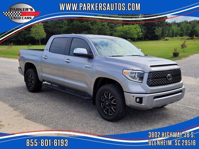 2020 Toyota Tundra for sale at Parker's Used Cars in Blenheim SC