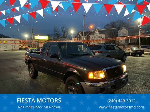 2005 Ford Ranger for sale at FIESTA MOTORS in Hagerstown MD