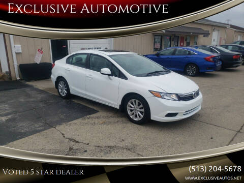 2012 Honda Civic for sale at Exclusive Automotive in West Chester OH