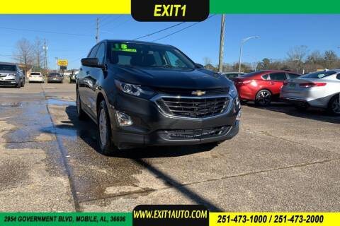2018 Chevrolet Equinox for sale at Exit 1 Auto in Mobile AL