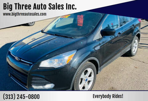 2015 Ford Escape for sale at Big Three Auto Sales Inc. in Detroit MI