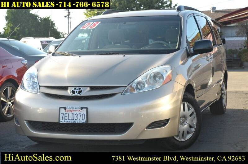 2008 Toyota Sienna for sale at Hi Auto Sales in Westminster CA