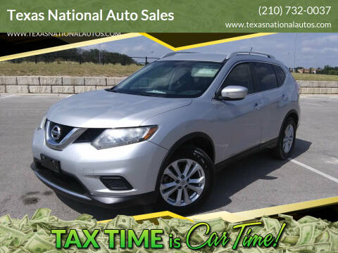 2014 Nissan Rogue for sale at Texas National Auto Sales in San Antonio TX