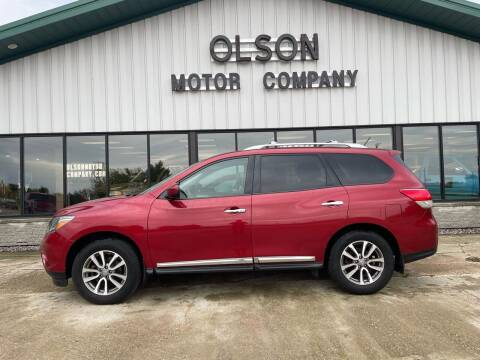 2013 Nissan Pathfinder for sale at Olson Motor Company in Morris MN