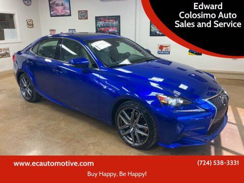2016 Lexus IS 200t for sale at Edward Colosimo Auto Sales and Service in Evans City PA