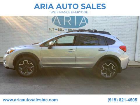 2013 Subaru XV Crosstrek for sale at ARIA  AUTO  SALES in Raleigh NC