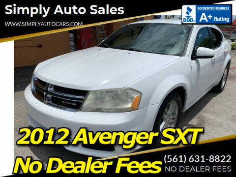2012 Dodge Avenger for sale at Simply Auto Sales in Palm Beach Gardens FL
