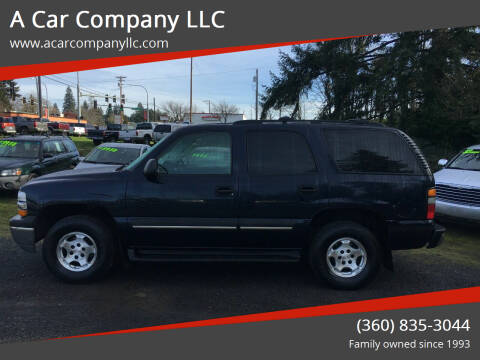 2004 Chevrolet Tahoe for sale at A Car Company LLC in Washougal WA