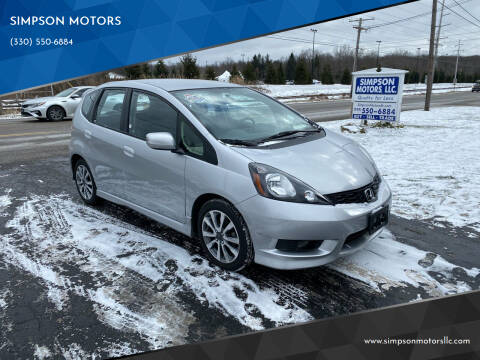 2013 Honda Fit for sale at SIMPSON MOTORS in Youngstown OH