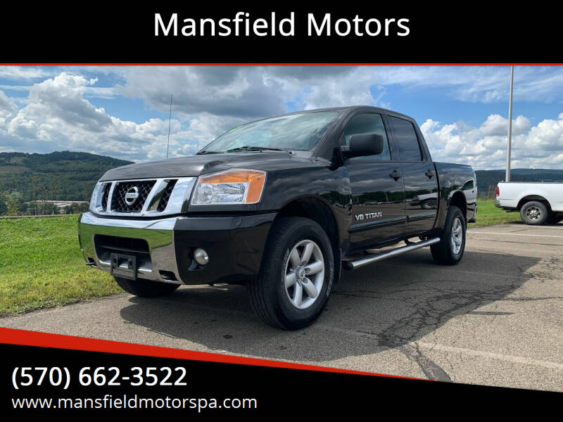 2012 Nissan Titan for sale at Mansfield Motors in Mansfield PA