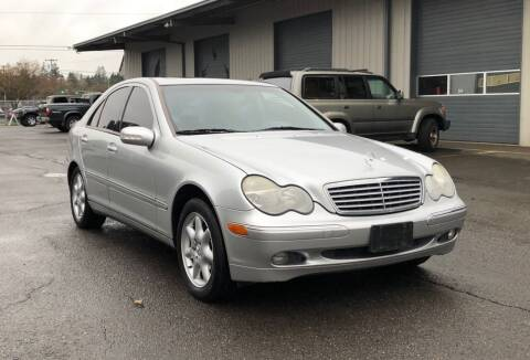 2002 Mercedes-Benz C-Class for sale at DASH AUTO SALES LLC in Salem OR