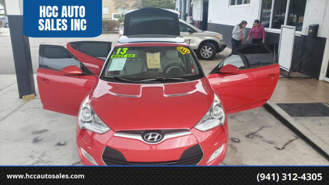2013 Hyundai Veloster for sale at HCC AUTO SALES INC in Sarasota FL