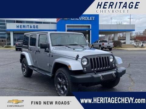 2017 Jeep Wrangler Unlimited for sale at HERITAGE CHEVROLET INC in Creek MI