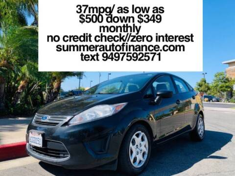 2011 Ford Fiesta for sale at SUMMER AUTO FINANCE in Costa Mesa CA
