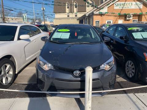 2016 Toyota Corolla for sale at Park Avenue Auto Lot Inc in Linden NJ