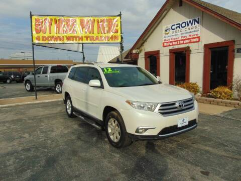 2012 Toyota Highlander for sale at Crown Used Cars in Oklahoma City OK