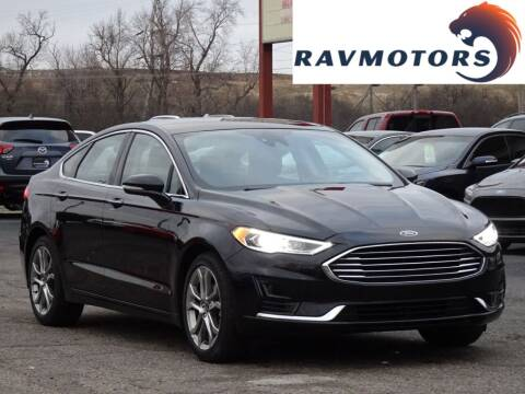 2019 Ford Fusion for sale at RAVMOTORS in Burnsville MN