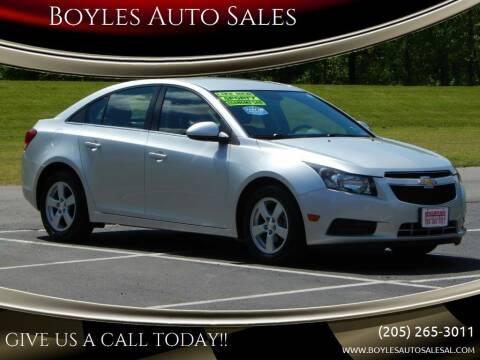 2014 Chevrolet Cruze for sale at Boyles Auto Sales in Jasper AL
