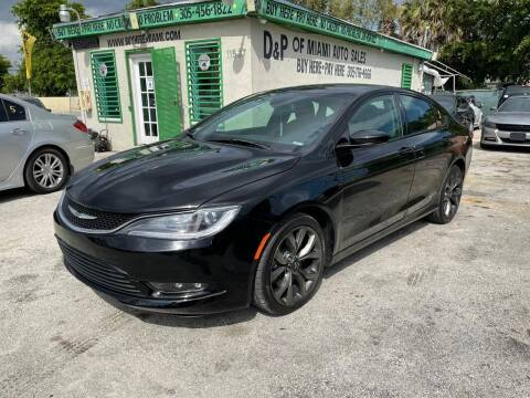 2015 Chrysler 200 for sale at D & P OF MIAMI CORP in Miami FL