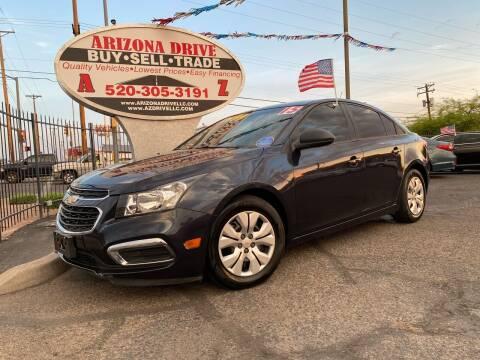 2015 Chevrolet Cruze for sale at Arizona Drive LLC in Tucson AZ