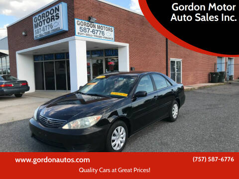 2005 Toyota Camry for sale at Gordon Motor Auto Sales Inc. in Norfolk VA
