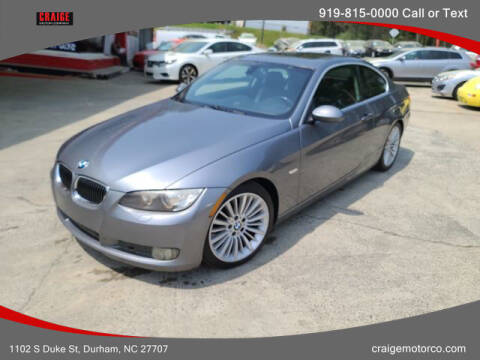 2007 BMW 3 Series for sale at CRAIGE MOTOR CO in Durham NC