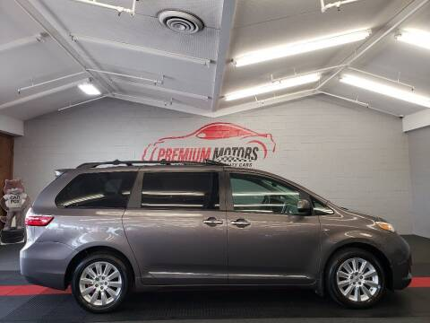 2016 Toyota Sienna for sale at Premium Motors in Villa Park IL