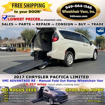 2017 Chrysler Pacifica for sale at Wheelchair Vans Inc - New and Used in Laguna Hills CA