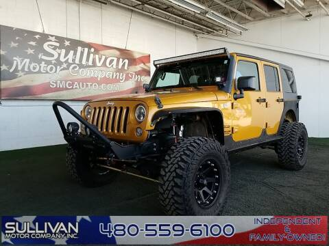 2014 Jeep Wrangler Unlimited for sale at TrucksForWork.net in Mesa AZ