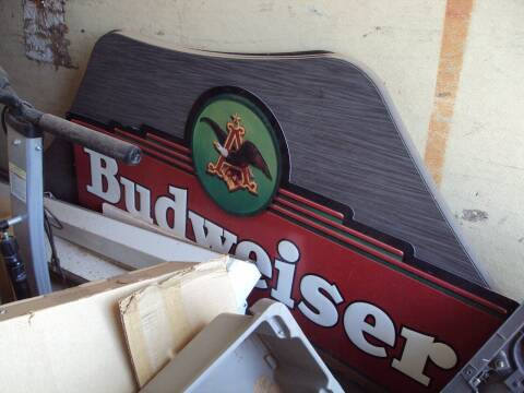 Budweiser  Metal Sign for sale at BENHAM AUTO INC - Peace of Mind Treasures and More Store in Lubbock TX