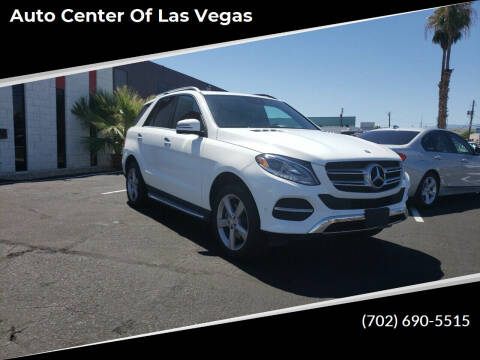 2016 Mercedes-Benz GLE for sale at Auto Center Of Las Vegas in Las Vegas NV