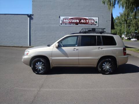 2006 Toyota Highlander for sale at Motion Autos in Longview WA