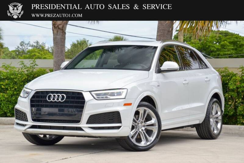 2018 Audi Q3 for sale at Presidential Auto  Sales & Service in Delray Beach FL
