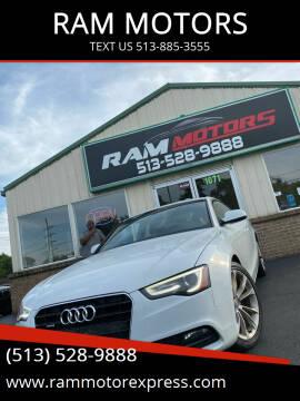 2013 Audi A5 for sale at RAM MOTORS in Cincinnati OH